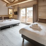 Self Catered Chalet Les Gentianes Family Bedroom