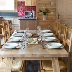 Chalet Les Gentianes Table and Kitchen Overview